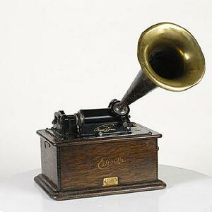 A More Advanced Model Of Edisons Wax Cylinder Phonograph Released By His Company In 1905